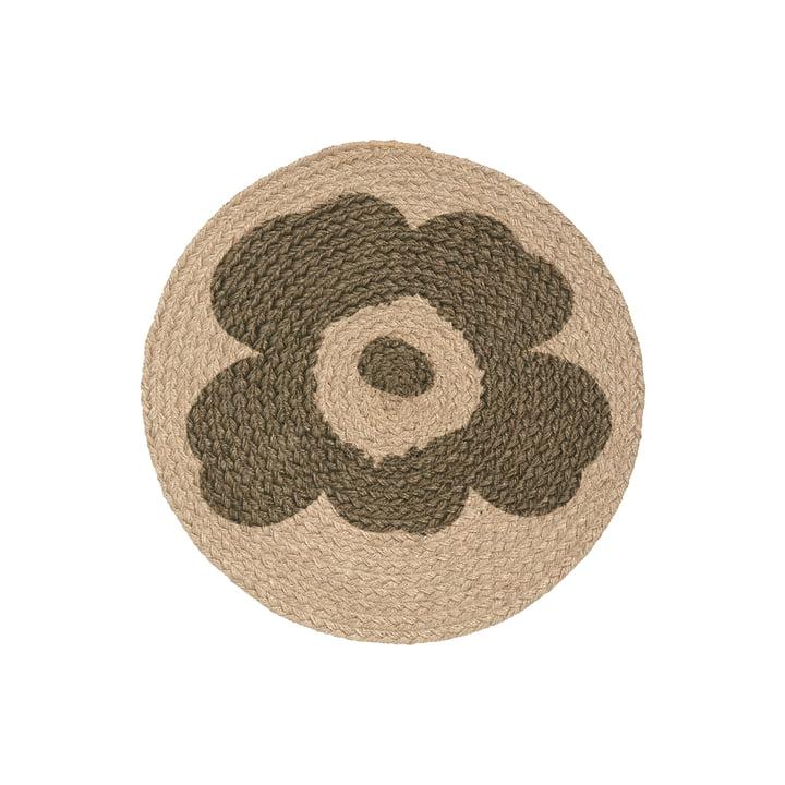 The Unikko placemat from Marimekko, jute
