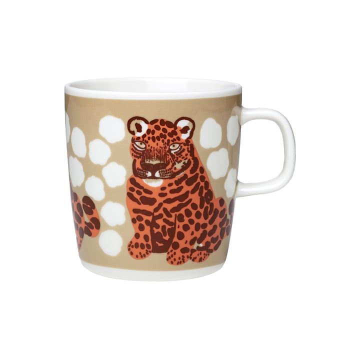 The Kaksoset mug with handle by Marimekko, 400 ml, beige / apricot / dark brown (Autumn 2021)