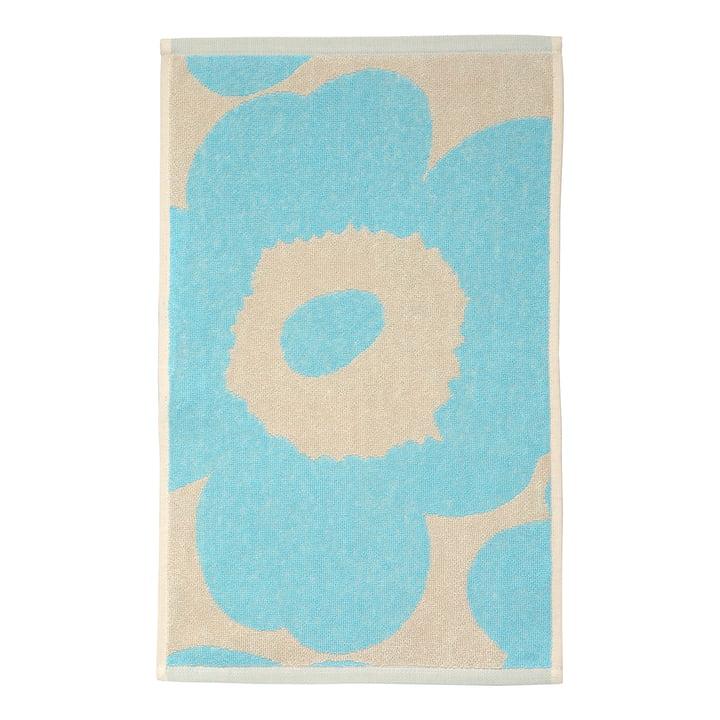 Marimekko - Unikko Guest towel 30 x 50 cm, off-white / light blue (Autumn 2021)