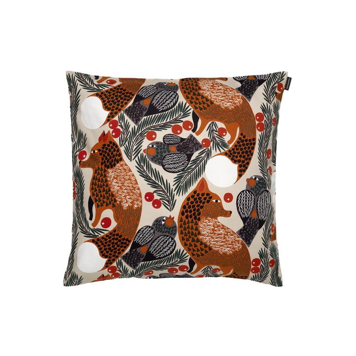The Ketunmarja pillowcase from Marimekko , 50 x 50 cm, beige / brown (autumn 2021)
