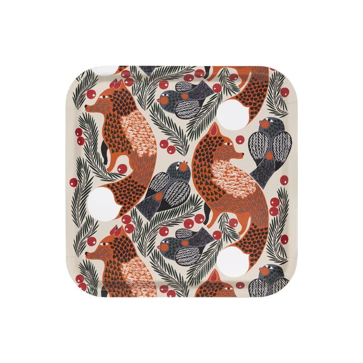 The Ketunmarja tray from Marimekko , 32 x 32 cm, beige / brown (Autumn 2021)