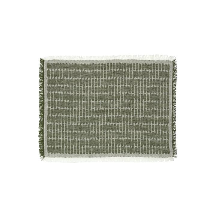 The Alku placemat from Marimekko , 47 x 36 cm, linen / green ( autumn 2021)