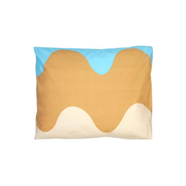 The Lokki pillowcase by Marimekko, 50 x 60 cm, blue / white / beige (autumn 2021)