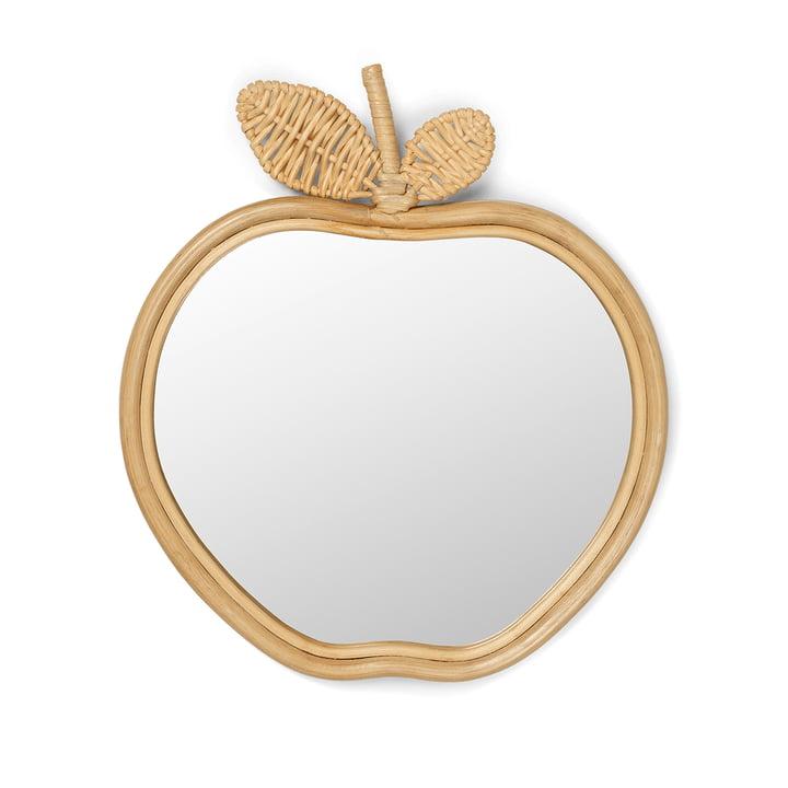 Apple children's mirror 42 x 37 cm by ferm Living in nature