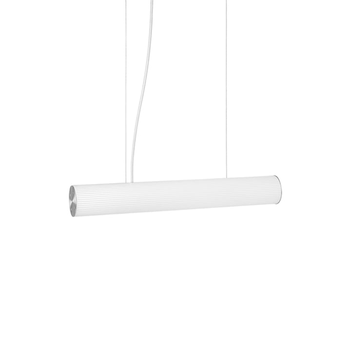Vuelta Pendant lamp L 60 cm by ferm Living in white / stainless steel