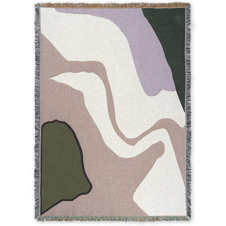 Vista Blanket 120 x 170 cm from ferm Living in purple