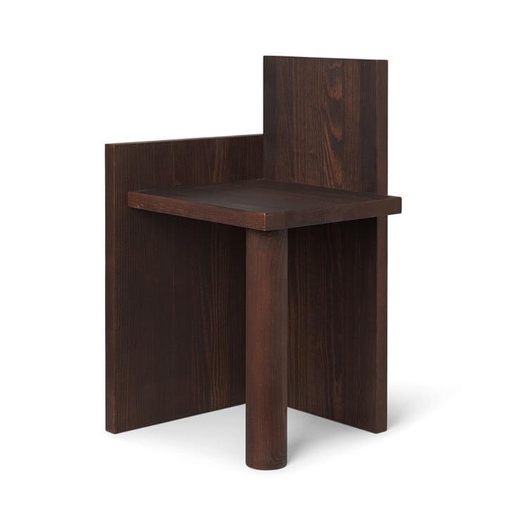 Uta Side table 40 x 39 cm by ferm Living in pine dark oiled