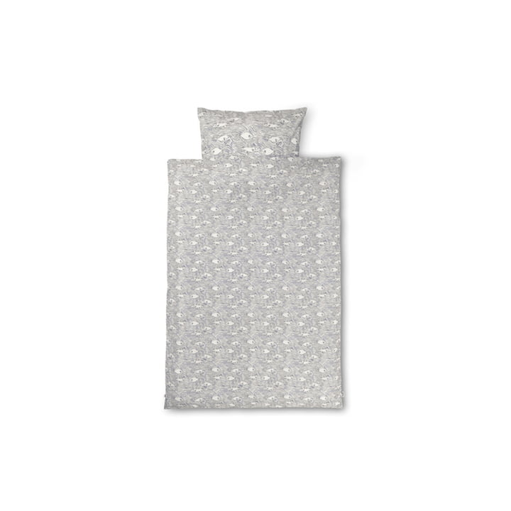 Stream Children's bed linen 100 x 140 cm by ferm Living in off-white