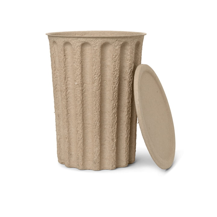 Paper Pulp Paper bucket by ferm Living in grey-brown