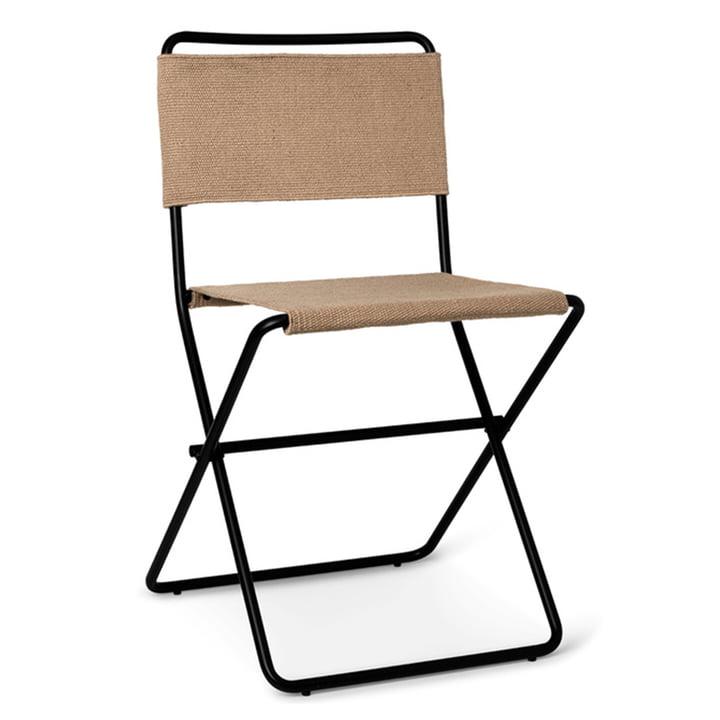 Desert Dining Chair by ferm Living in sand / black