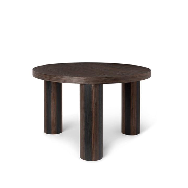 Post Coffee side table Ø 65 cm by ferm Living in smoked oak / black