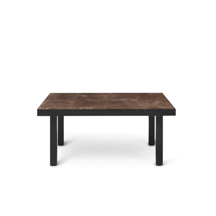 Flod Tile side table 61 x 81 cm by ferm Living in mocha / black