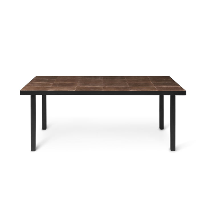 Flod Tile dining table 181 x 81 cm by ferm Living in mocha / black