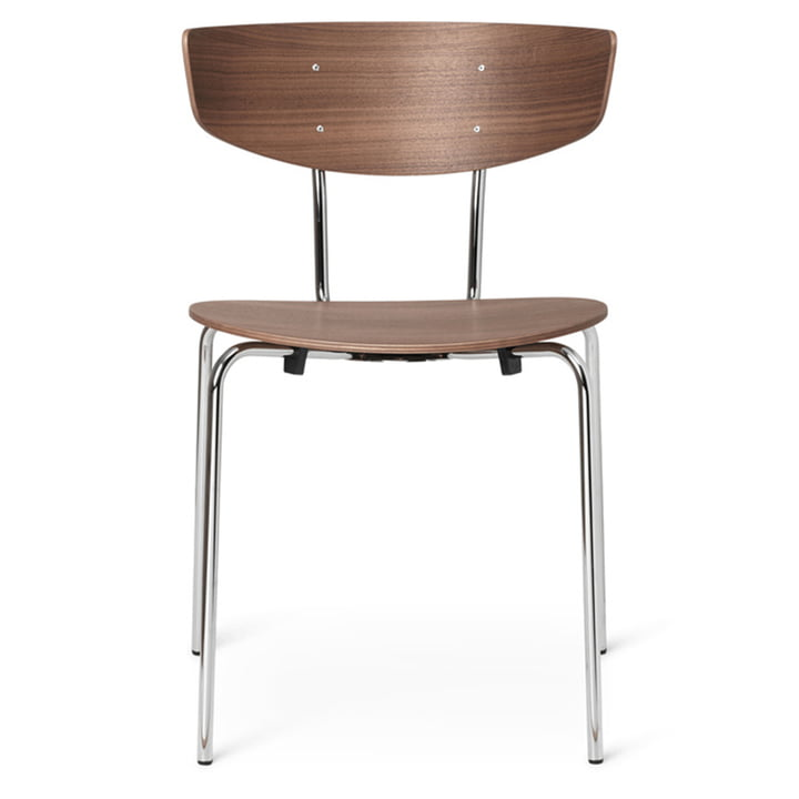 Herman Chair by ferm Living in walnut / chrome