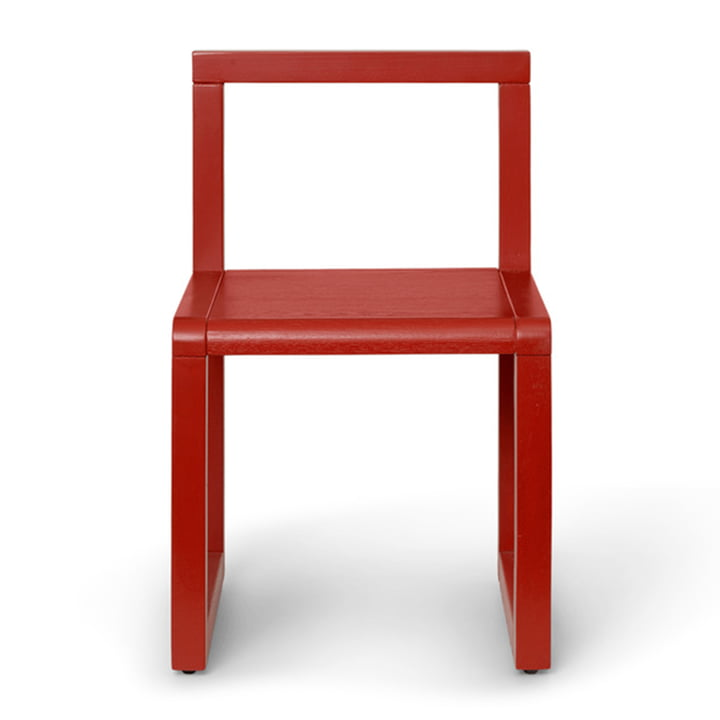 Little Architect Kids chair by ferm Living in poppy red