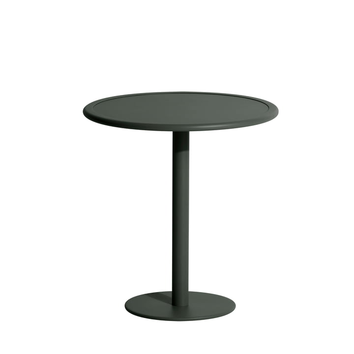The Week-End bistro table Outdoor from Petite Friture , Ø 70 cm, glass green