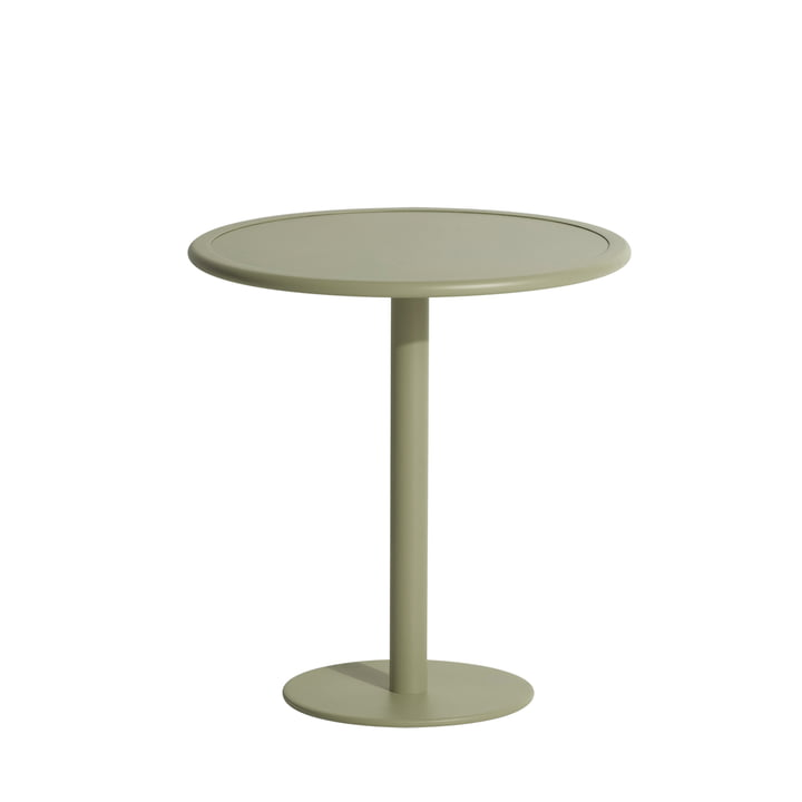 The Week-End bistro table Outdoor from Petite Friture , Ø 70 cm, jade green