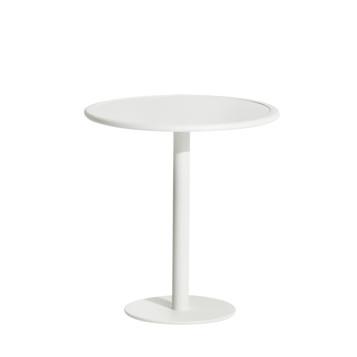 The Week-End bistro table Outdoor from Petite Friture , Ø 70 cm, white