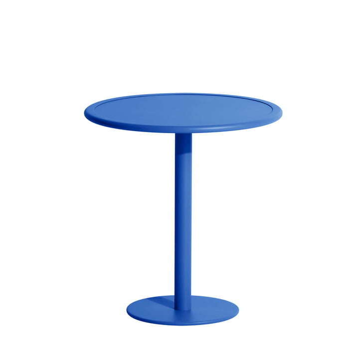 The Week-End bistro table Outdoor from Petite Friture , Ø 70 cm, blue