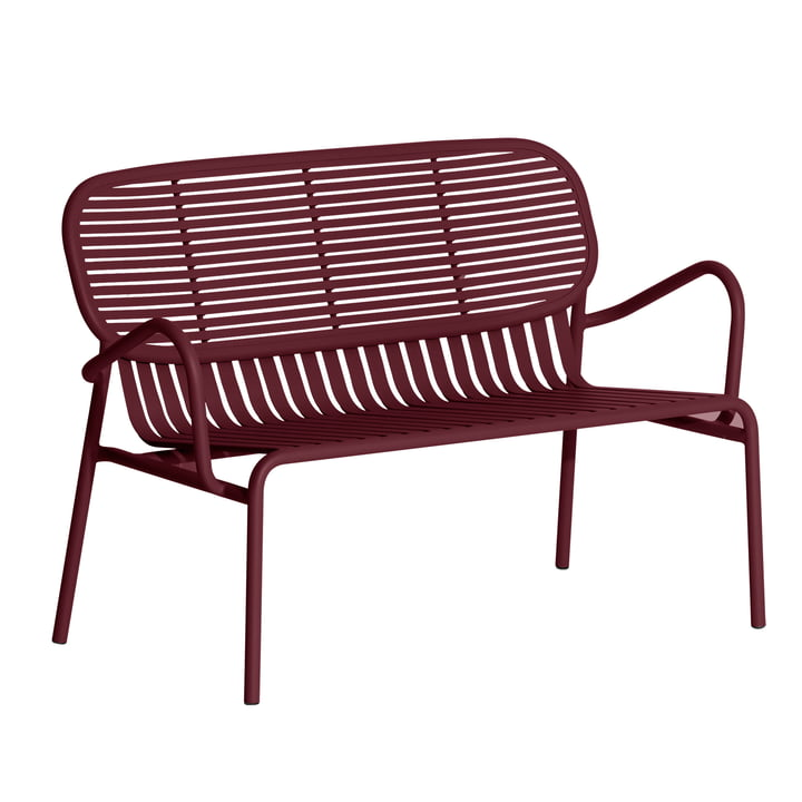 The Week-End Sofa Outdoor from Petite Friture , burgundy