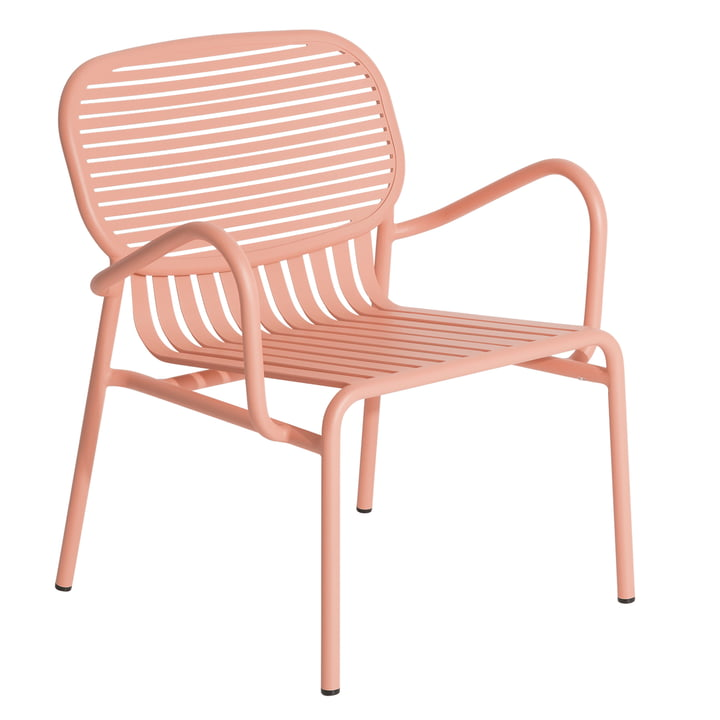 The Week-End Outdoor armchair from Petite Friture , blush