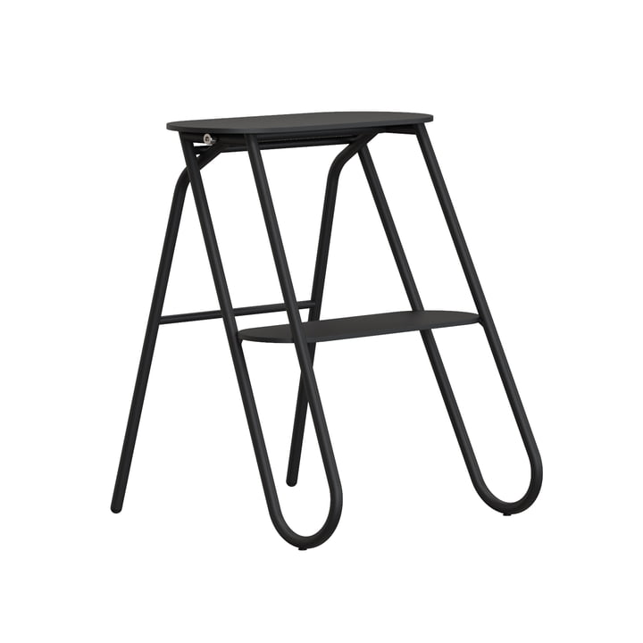 The Bukto folding step stool from Frost , small, H 46 cm, black