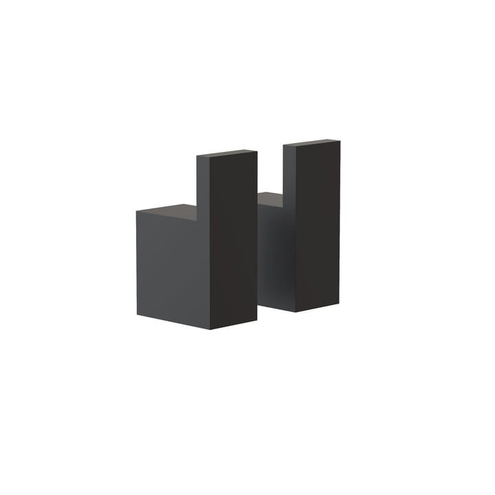 The Quadra Wall hooks 8 from Frost , black (set of 2)