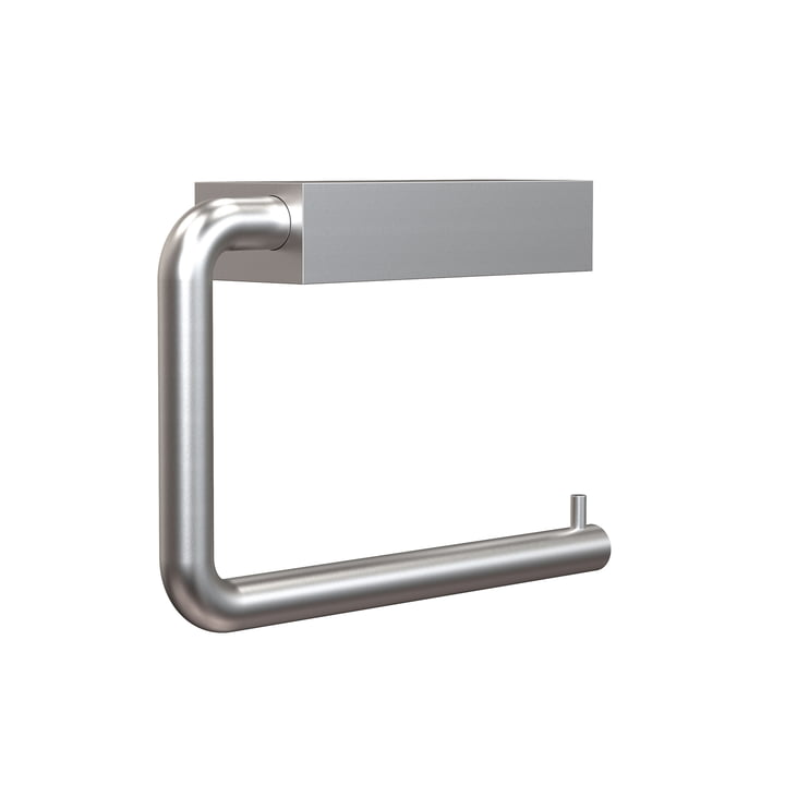 The Quadra WC roll holder 3 from Frost , brushed aluminium