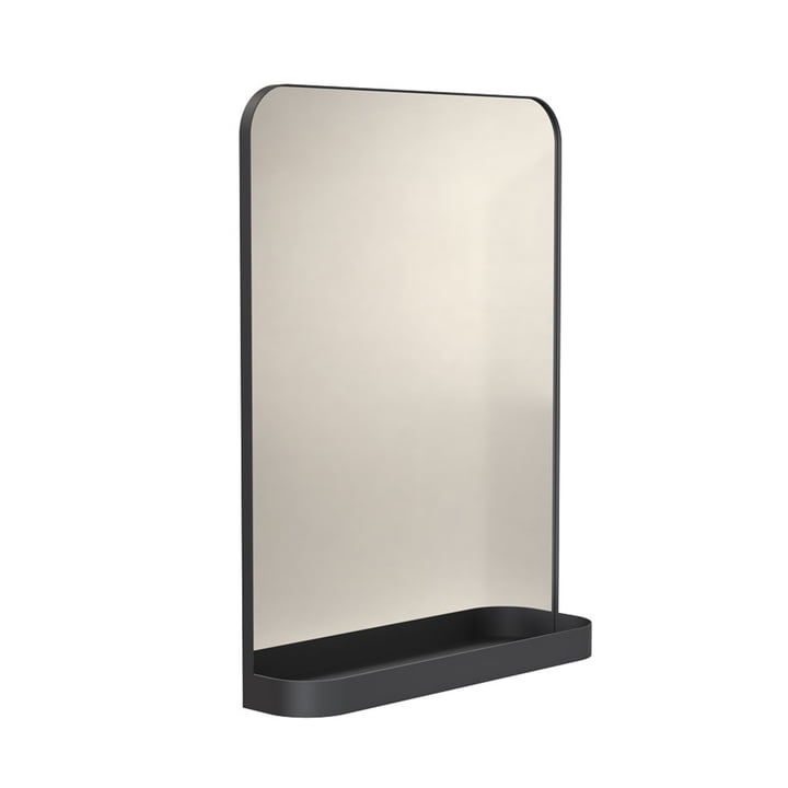 The Signatures TB600 mirror with shelf from Frost , black