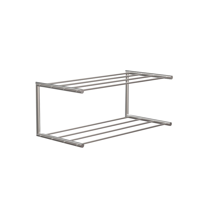 The Nova shoe rack 1 from Frost , 60 cm, brushed stainless steel