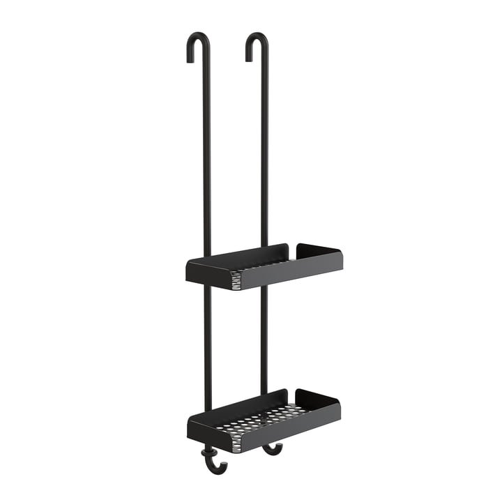 The Nova2 Shower tray to hang double from Frost , black