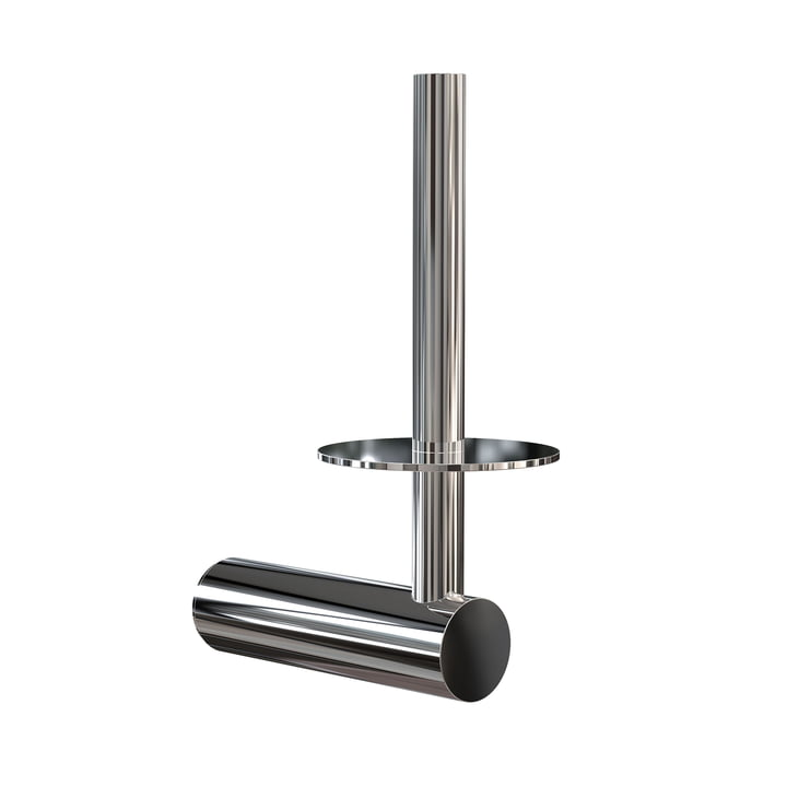 The Nova2 Toilet paper holder for spare roll from Frost , polished stainless steel