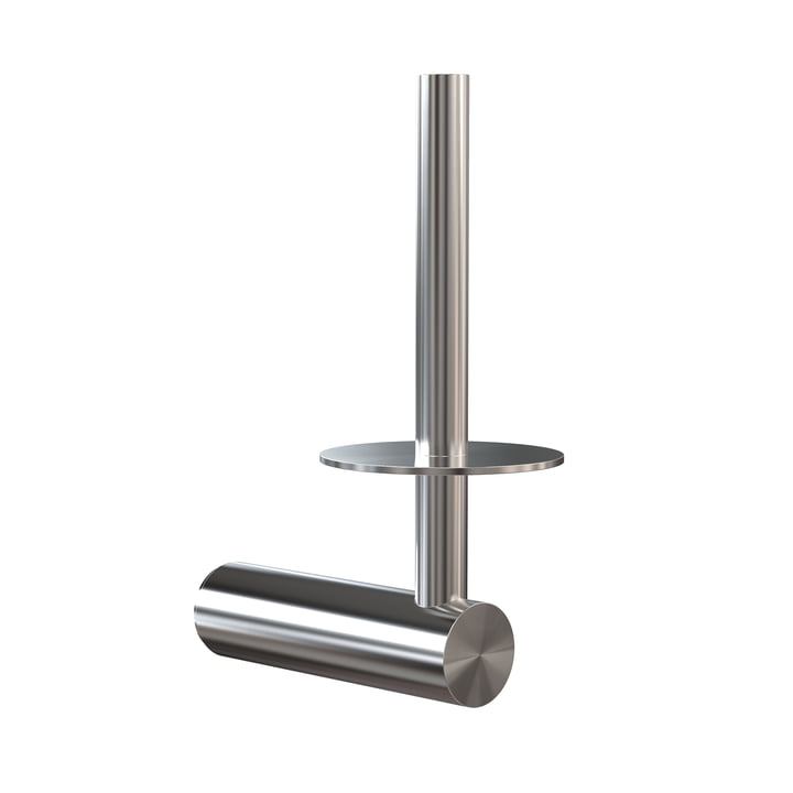 The Nova 2 toilet paper holder for spare roll from Frost , brushed stainless steel