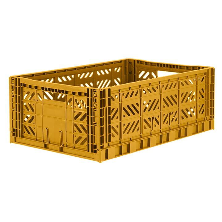 Folding box Maxi 60 x 40 cm from Aykasa in mustard