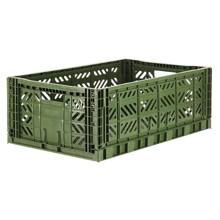 Folding box Maxi 60 x 40 cm from Aykasa in khaki