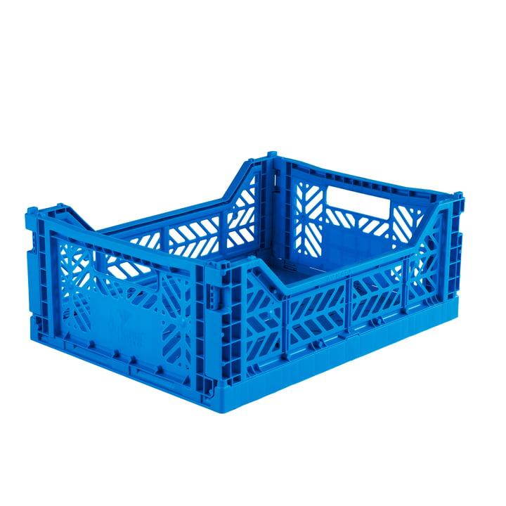 Folding box Midi 40 x 30 cm from Aykasa in electric blue