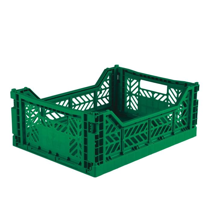 Folding box Midi 40 x 30 cm from Aykasa in dark green