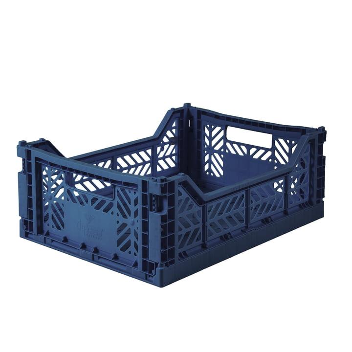 Folding box Midi 40 x 30 cm from Aykasa in navy
