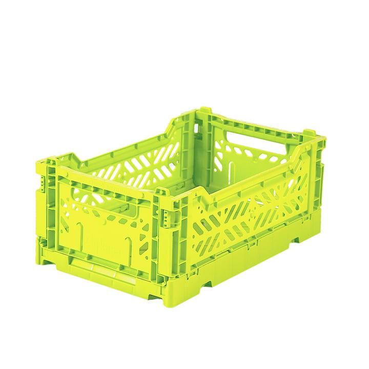 Folding box mini 27 x 17 cm from Aykasa in acid yellow