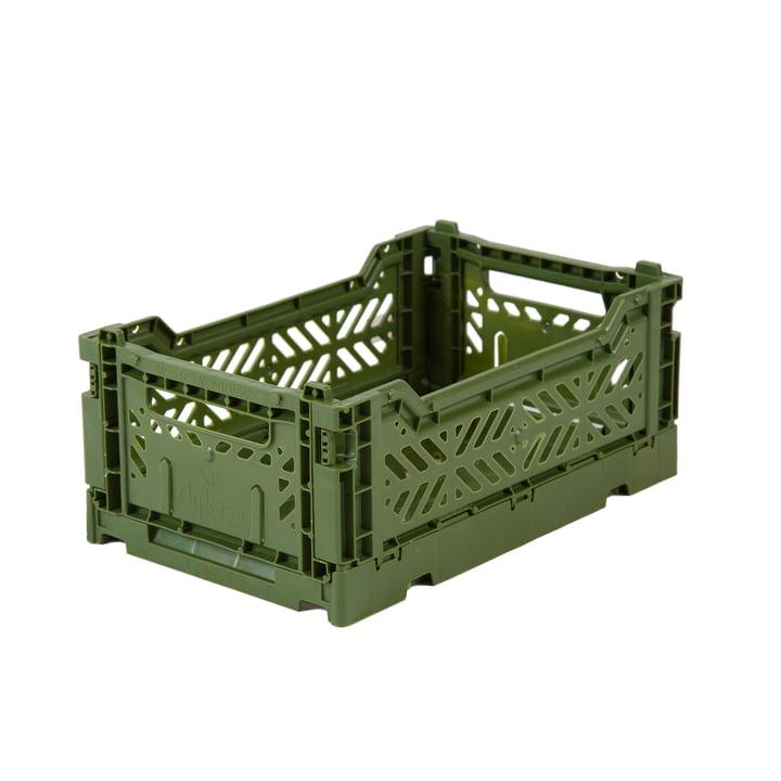 Folding box mini 27 x 17 cm from Aykasa in khaki