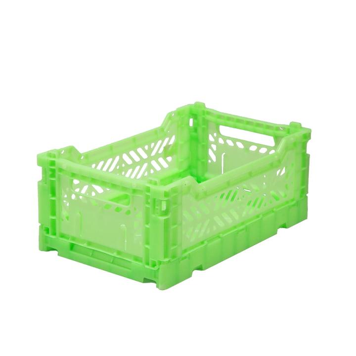 Folding box mini 27 x 17 cm from Aykasa in fluorescent green