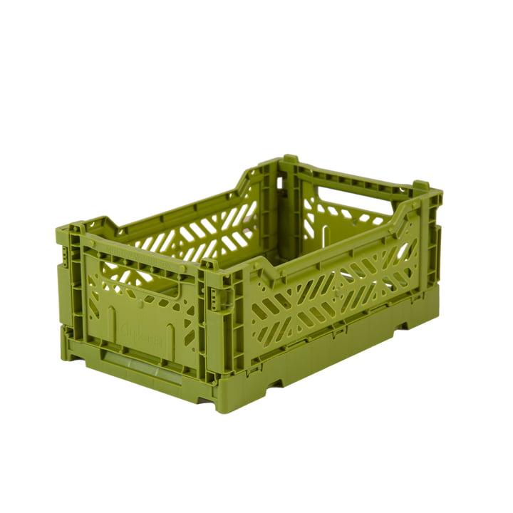 Folding box mini 27 x 17 cm from Aykasa in olive