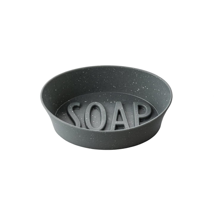 Soap Soap dish (Recycled) from Koziol in nature grey