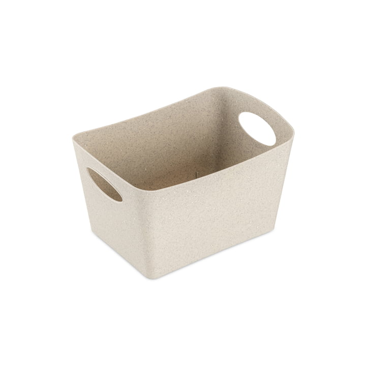 Boxxx S Storage box (Recycled) from Koziol in the colour desert sand