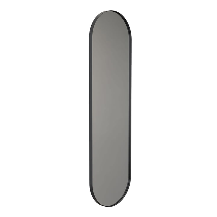 The Unu wall mirror 4139 from Frost with frame oval, 40 x 140 cm, black