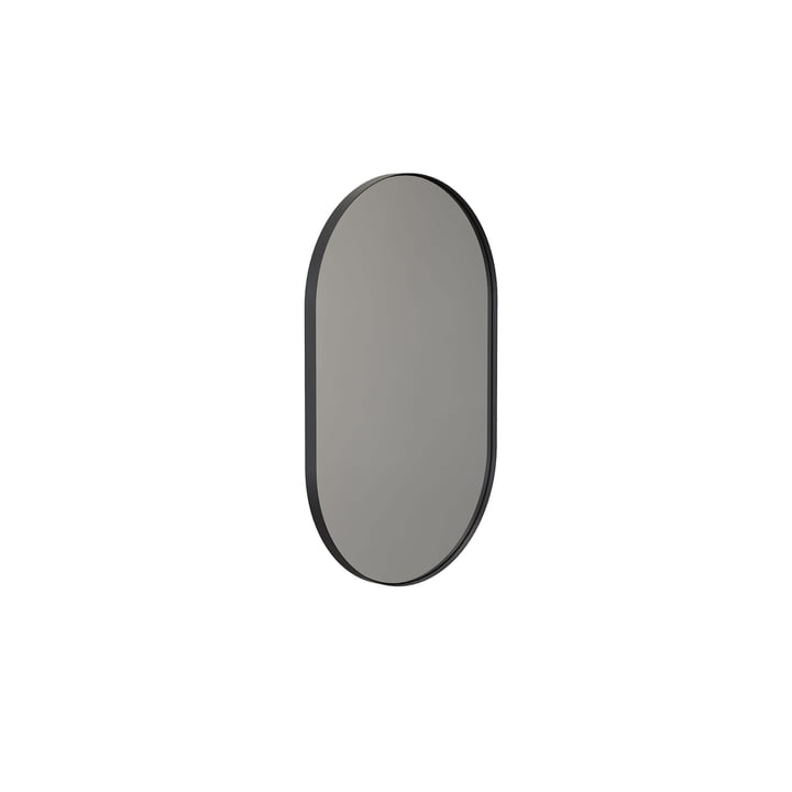 The Unu wall mirror 4138 from Frost , with frame oval, 50 x 80 cm, black
