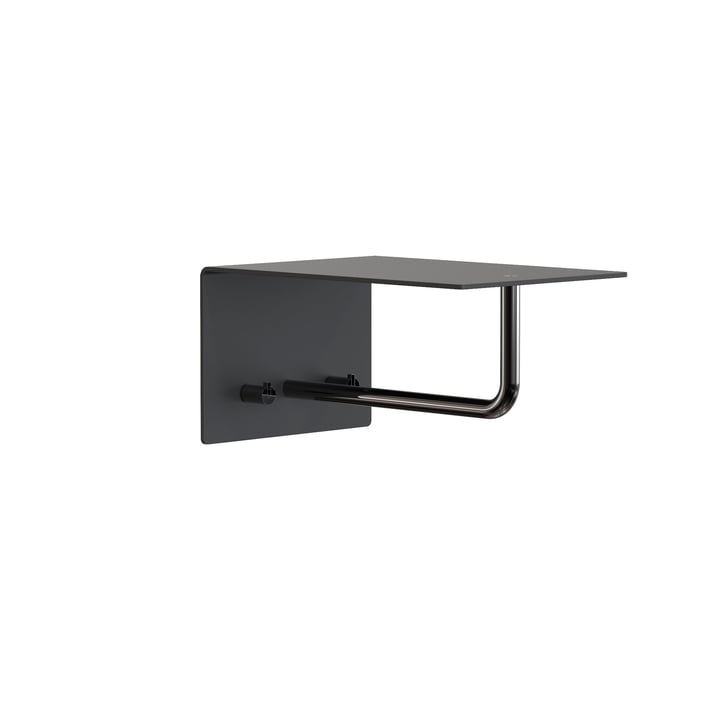 The Unu wall coat rack with hook and bar from Frost , 200 mm, black