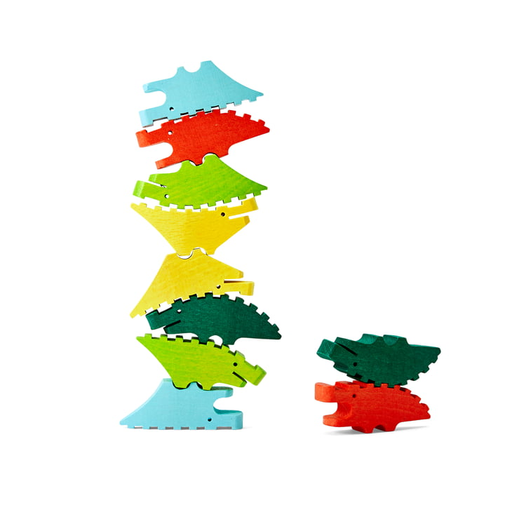 The Croc Pile Mini wooden crocodiles from Areaware , coloured (set of 10)