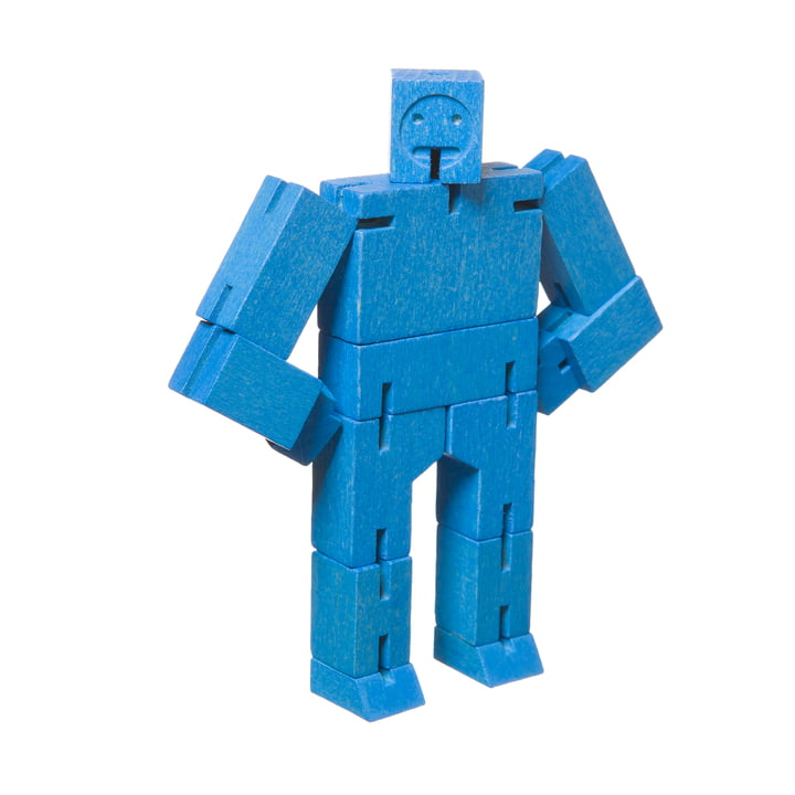 Micro Cubebot from Areaware in blue