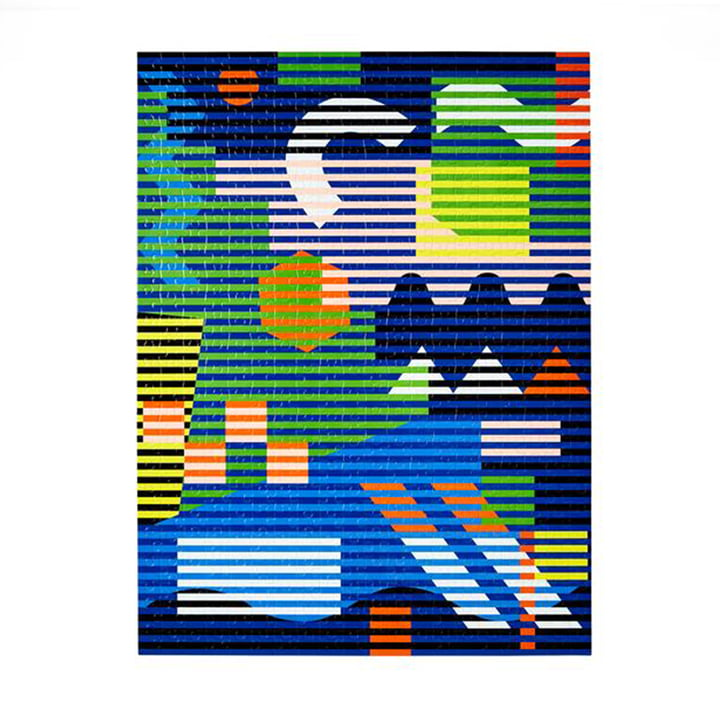 Pattern Puzzle from Areaware in the lenticular version (500 pieces)